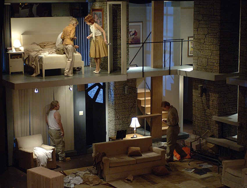 The Desperate Hours by Joseph Hayes - Barter Theatre - Directed by Rick Rose - Scenery by Richard Finkelstein - Lighting Design by Lucas Benjamin Krech